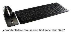 KIT TECLADO E MOUSE SEM FIO WIRELESS LEADERSHIP MOD 3287