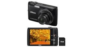 CAMERA NIKON S4100 A BATERIA TOUCH SCREEN FILMA HD + 4GB +BATERIA DE R$ 377