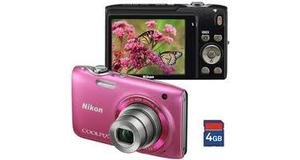CAMERA DIGITAL NIKON S3100 ROSA + 4GB 12MP