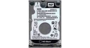 HD NOTEBOOK 500GB WESTER DIGITAL BLACK 7200RPM