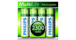 KIT 4 PILHAS PHILIPS AA 2300