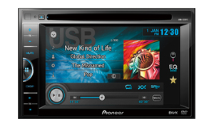 SOM AUTOMOTIVO PIONEER DVD PLAYER AVH-165DVD 6.1 USB