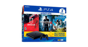 VIDEO GAME PLAYSTATION 4 500GB+ GAMES UNCHARTED 4 + HORIZON ZERO DOWN +DRIVECLUB